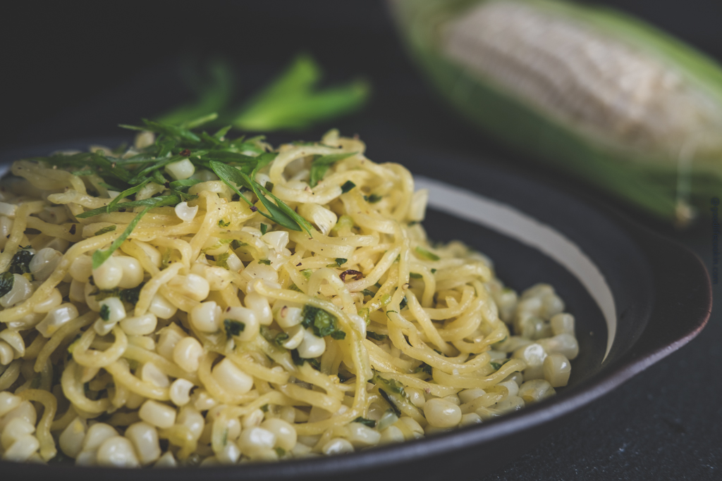 Green Onion Corn Pasta