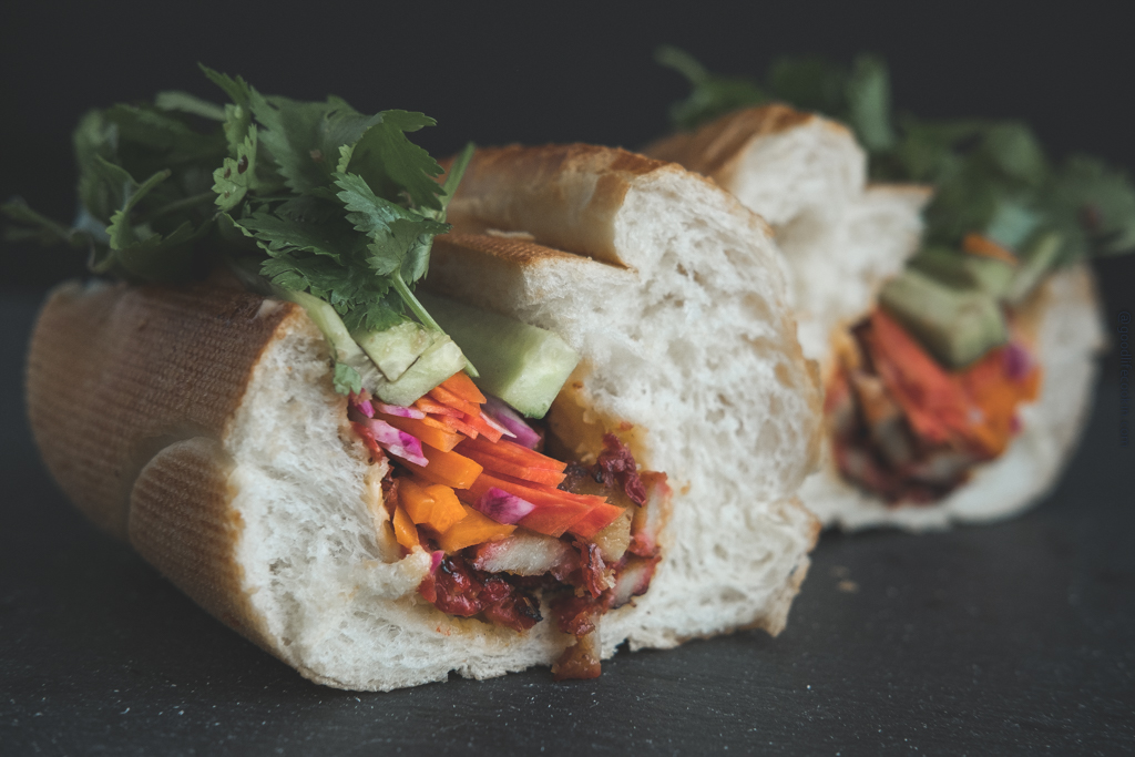 Lemongrass bbq pork banh mi